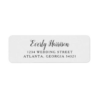 Everly Wedding Return Address Label