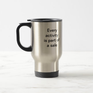 Every activity is part of a sale stainless steel travel mug