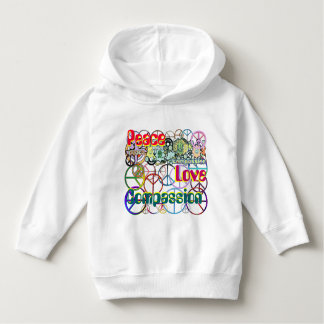 Every Colour of the Rainbow Peace Sign Collage Hoodie
