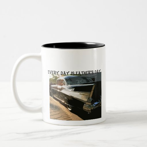 Every Day is Father's Day, Chevy Bel air, black Coffee Mugs