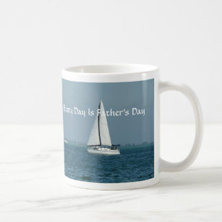 Every Day Is Father's Day, Sailing Basic White Mug