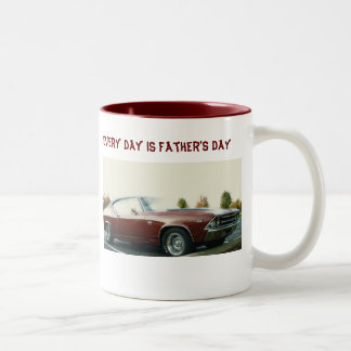 Every day is Father's Day, Vintage Chevy S S Two-Tone Coffee Mug