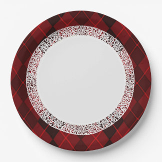Everyday_Dinner_Paper-Plates(c)Jewel-Red-Argyle Paper Plate