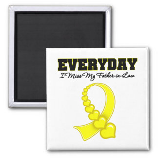 Everyday I Miss My Father-in-Law Military Square Magnet