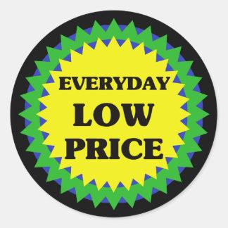 EVERYDAY LOW PRICE Retail Sale Sticker