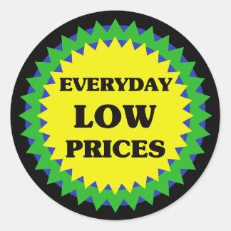EVERYDAY LOW PRICES Retail Sale Sticker