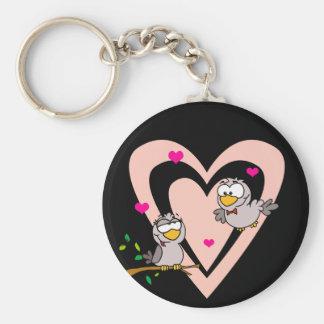 Everyday Romance: Love Birds Basic Round Button Key Ring
