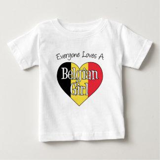Everyone Loves A Belgian Girl Baby T-Shirt