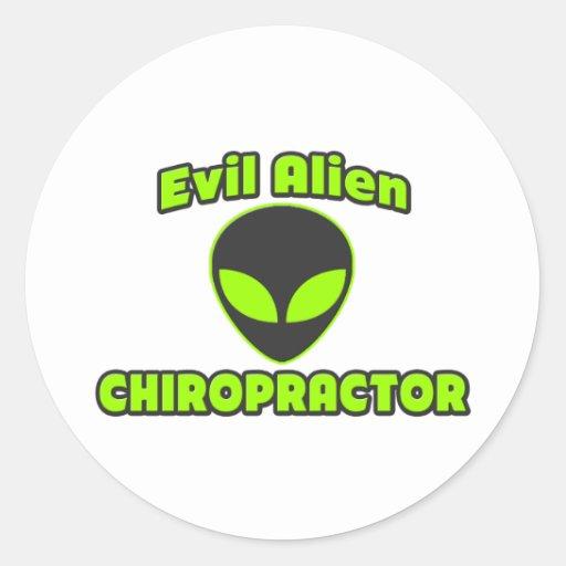 Evil Alien Chiropractor Sticker