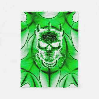 Evil Phantasm Skull Fleece Blanket