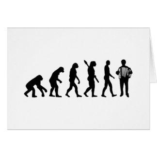 Evolution Accordion player Cards