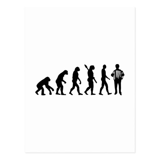 Evolution Accordion player Post Card