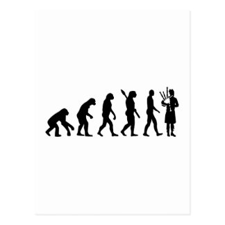 Evolution Bagpipe Post Cards