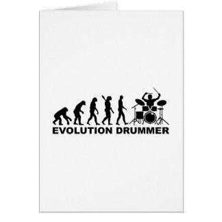 Evolution drummer drums greeting card