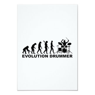 Evolution drummer drums custom invitations
