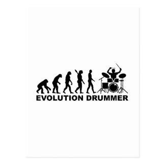 Evolution drummer drums postcard