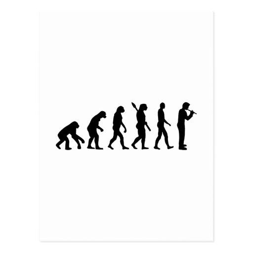 Evolution Flute Postcard