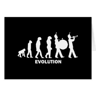 evolution marching band greeting cards