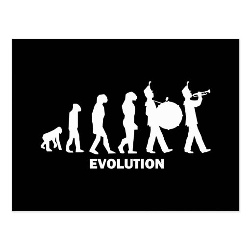 evolution marching band postcard