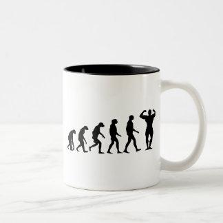 Evolution of Bodybuilding Two-Tone Coffee Mug