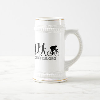 Evolution of Cycling Polka Dot Logo Cycle Gear Beer Steins