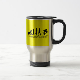 Evolution of Cycling Polka Dot Logo Cycle Gear Stainless Steel Travel Mug