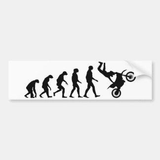 Evolution of Motocross Bumper Sticker