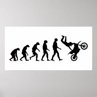 Evolution of Motocross Poster