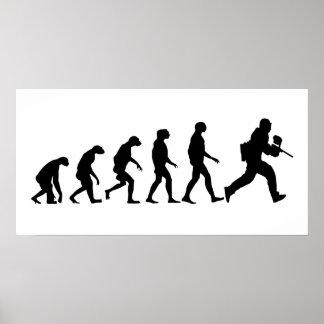 Evolution of Paintball Poster