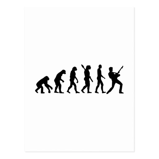 Evolution Rock musician star Post Card