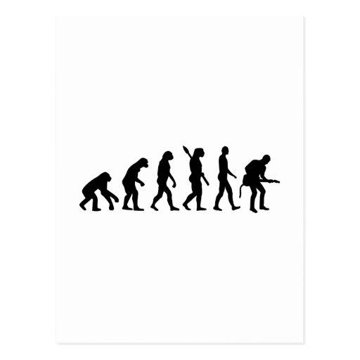 Evolution Rock musician star Postcard