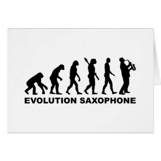 Evolution Saxophone Greeting Cards