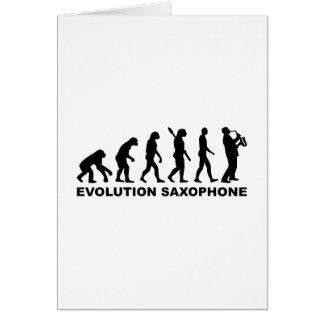 Evolution Saxophone Card