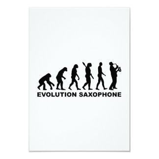 Evolution Saxophone Personalized Invite