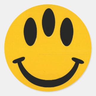 Evolution Smiley Classic Round Sticker