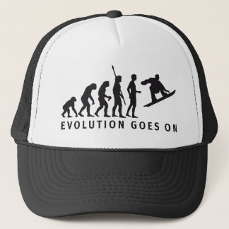 evolution snowboard trucker hat