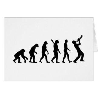 Evolution trumper greeting card