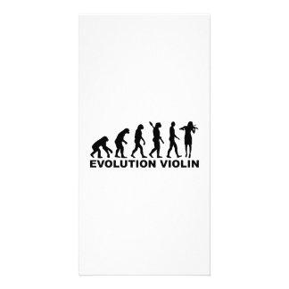 Evolution violin photo card