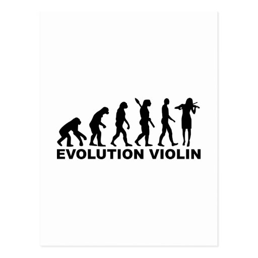 Evolution violin post card