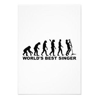 Evolution World s Best Singer Personalized Invitation