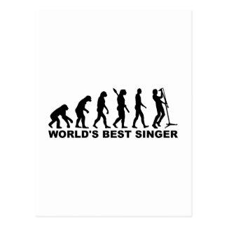 Evolution World s Best Singer Postcards