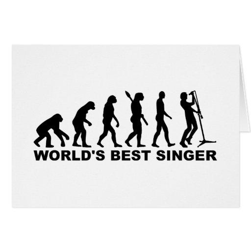 Evolution World's Best Singer Card