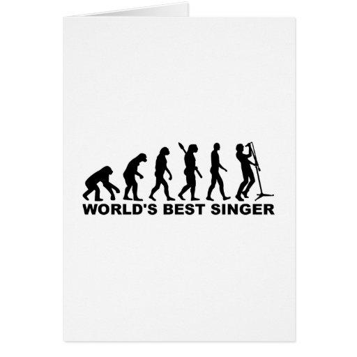 Evolution World's Best Singer Greeting Card