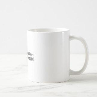 evolving basic white mug