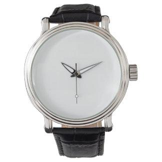 eWatch Men's Vintage Black Leather Strap Watch