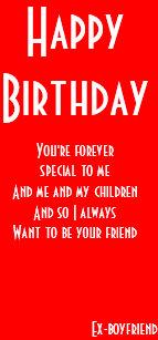 Ex Boyfriend Still Friends Birthday Cards
