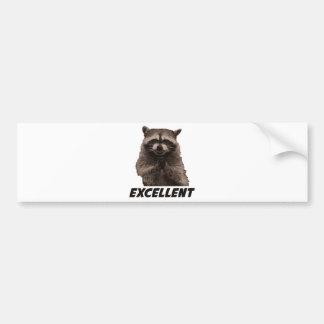 Excellent Evil Plotting Raccoon Bumper Sticker