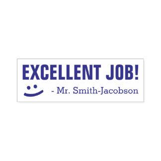 """EXCELLENT JOB!"" + Smiling Face Teacher Stamp"