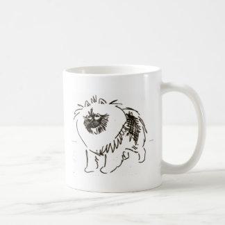 Excited keeshond coffee mug