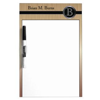 Executive Monogram Design - Citrine Brush Steel Dry Erase Board